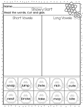 Snowy Short and Long Vowel Sort