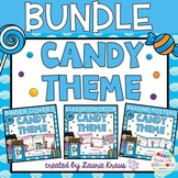 Candy Theme Bundle - Decor, Reading Posters, & Binder Covers