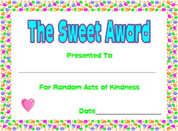 Candy Theme Certificates
