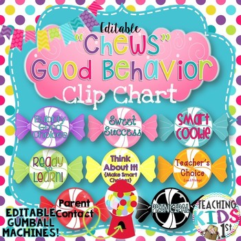 "Candy Theme ""Chews"" Good Behavior Behavior Clip Chart with"