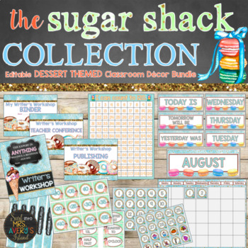 Candy Theme Classroom Decor Bundle - Editable