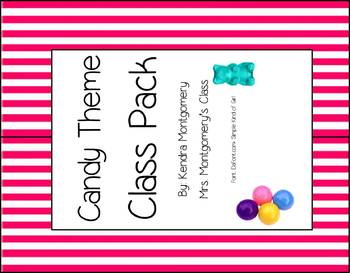 Candy Theme Classroom Decor Pack- Pink and White Stripes