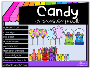 Candy Theme Decor {Expansion Pack}