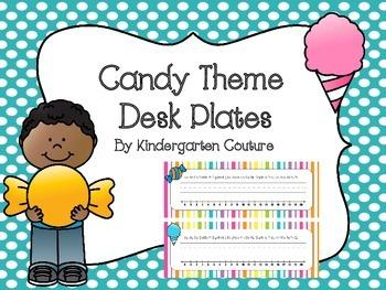 Candy Theme Desk Plates