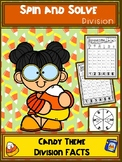 Candy Theme Division Spin and Solve Math Centers