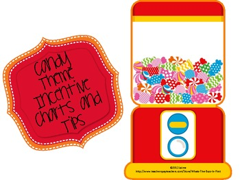 Candy Theme Incentive Charts