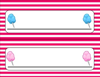 Candy Theme Name Plates
