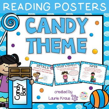 Candy Theme Reading Comprehension Posters