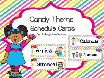 Candy Theme Schedule Cards