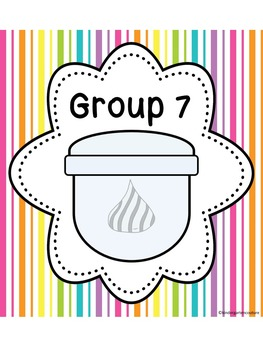 Candy Theme Table and Group Numbers 1-8