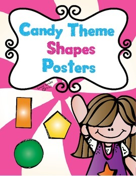 Candy Themed 2D & 3D Shape Posters