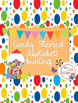 Candy Themed Alphabet Banner