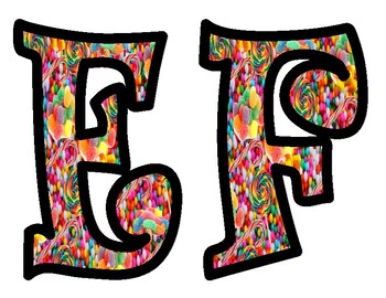 Candy Themed Alphabet Letters