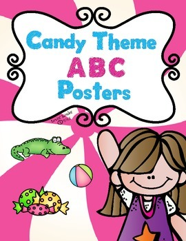 Candy Themed Alphabet Posters