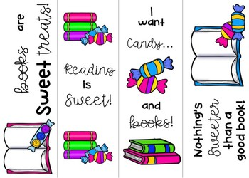 Candy Themed Bookmarks