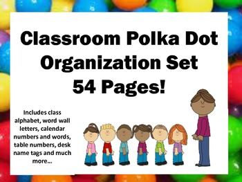Candy Themed Classroom Decor Organization Set 54 pages