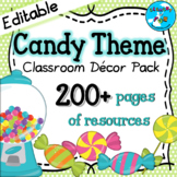 Candy Themed Classroom Decor Pack ⭐Editable!⭐