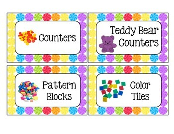 Candy-Themed Classroom Supply Labels