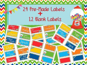 Candy Themed Classroom/Toolbox Labels