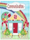 Candy Themed Communication Folder