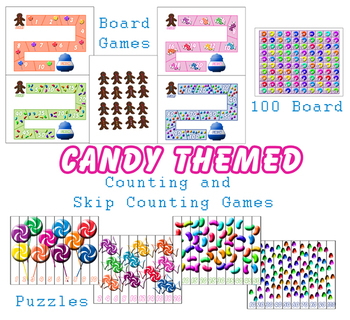 Candy Themed Counting and Skip Counting File Folder Activity Bundle