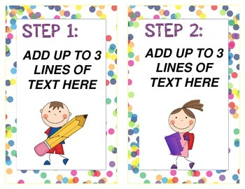 Candy Themed Daily Schedule Task Cards