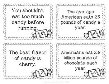 Candy Themed Fact and Opinion Scoot
