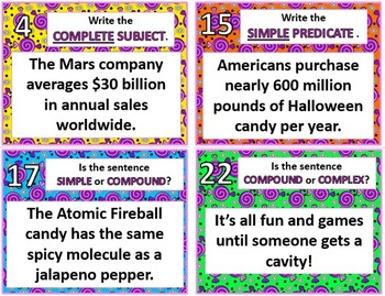 Candy Themed Grammar Review