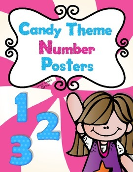 Candy Themed Number Posters (0-20)