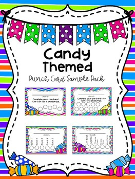 Candy Themed Punch Card Sampler