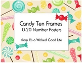Candy Themed Ten Frame Number Posters