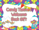Candy Themed Welcome Back Gift Tags