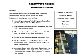 Candy Wave Machine - Modeling Wave Motion and Properties
