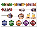Candy Word Family / Word Sort / Rhyming Activity -- 33 word families, 495 cards