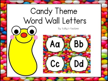 Candy Word Wall Letters Dollar Deal