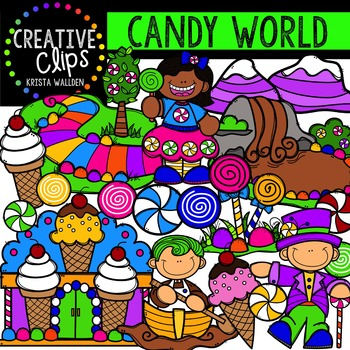 Candy World {Creative Clips Digital Clipart}