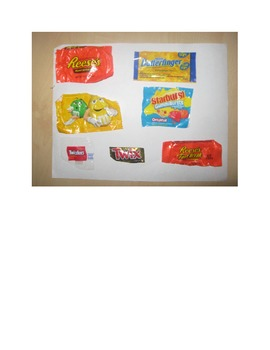 Candy Wrapper BINGO game and lesson plans: Halloween/November/Fall