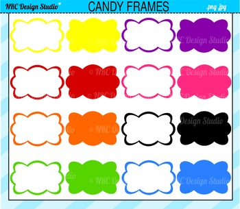 Candy Wrapper Frames Clip Art