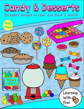 Candy and Desserts Clip Art