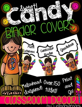 Candy and Students Binder Covers