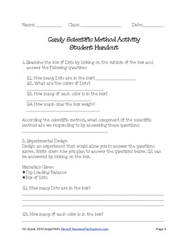 Candy and the Scientific Method Activity