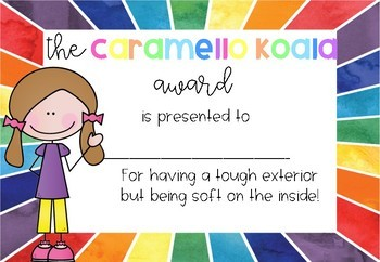 Candy awards! Suitable for Australia!