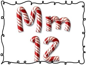 Candy cane letter and number differentiation
