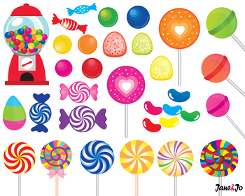 Candy clipart Lollipop Candy Digital paper sweet clip art gumball Backgrounds
