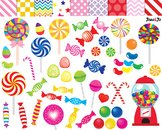 Candy clipart Lollipop Candy Digital paper sweet clip art