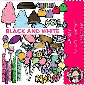 Melonheadz: Candy clip art - BLACK AND WHITE
