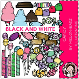 Candy clip art - BLACK AND WHITE- by Melonheadz