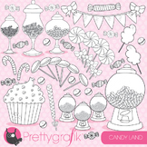 Candy land stamps,  commercial use, vector graphics, images  - DS707