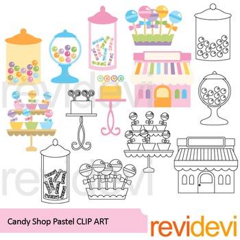 Candy shop clip art