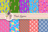 Candy stick and lollipop digital paper. Candy cane pattern